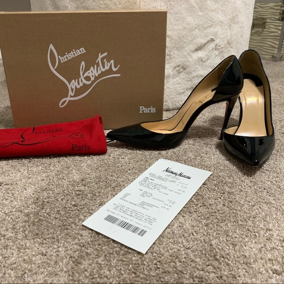 d985d29939 Christian Louboutin Shoes | 100mm Iriza Black Patent Pump | Poshmark